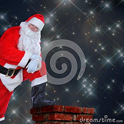 Free Santa Resting Foot On Chimney Stock Photos - 43204463