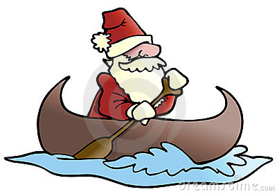 Santa row boat