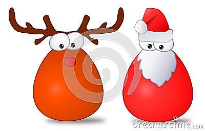 Santa & Rudolph Cartoon