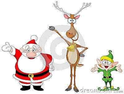 Santa rudolph elf