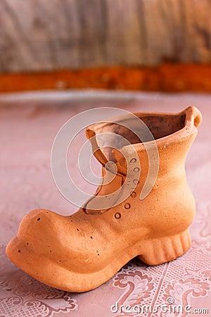 Santa s boot of clay