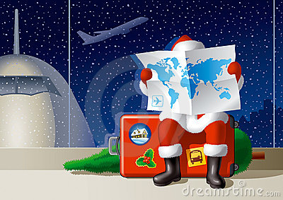 Santa s Christmas travel