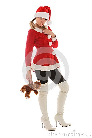 Santa s helper holding a bear