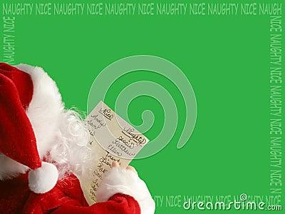 Santa s list border