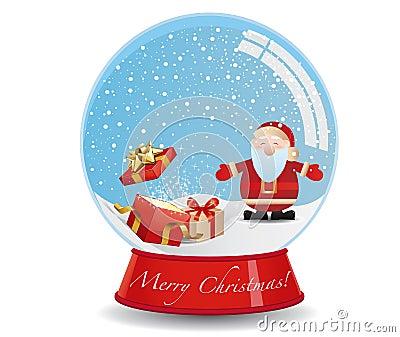 Santa s Presents -  Snow Globe
