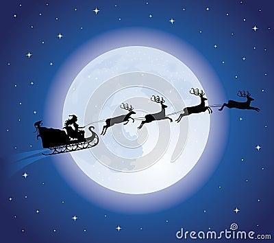 Santa s sledge.
