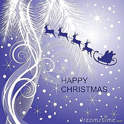 Santa`s sleigh