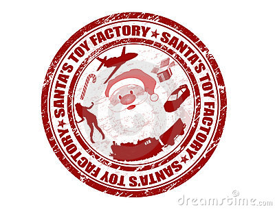 Santa s Toy Factory stamp