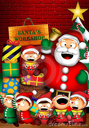 Free Santa S Workshop Stock Image - 4510681
