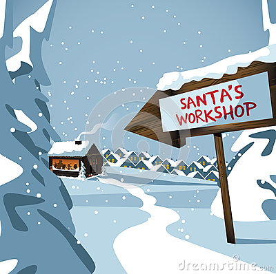 Free Santa S Workshop At The North Pole Stock Images - 60498214