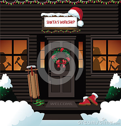 Free Santa S Workshop At The North Pole Royalty Free Stock Photo - 60530075