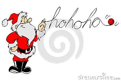 Santa say hohoho