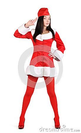 Santa sexy girl stewardess stylize