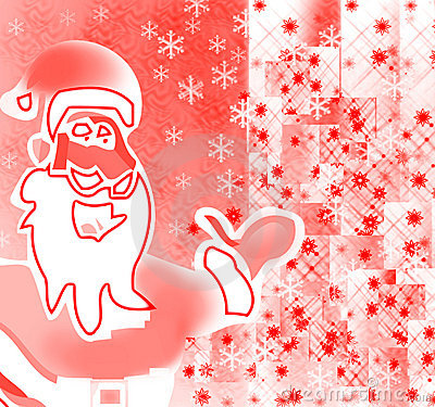 Santa showing the celebrations and gifts of Merry