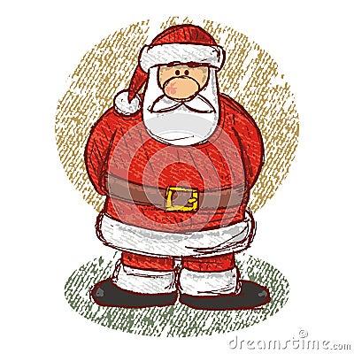 Santa sketch (vector)