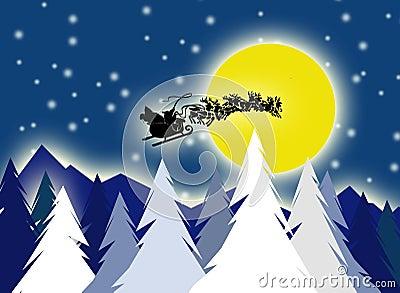Santa on sky