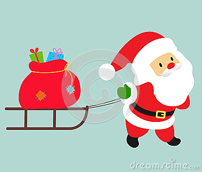 Santa and sledge