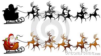 Santa Sleigh Clip Art