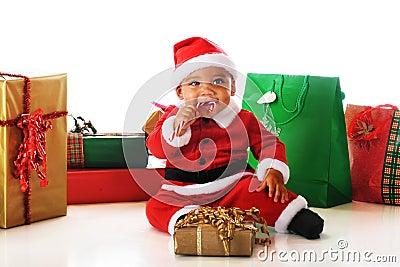 Santa Snitching a Candy Cane