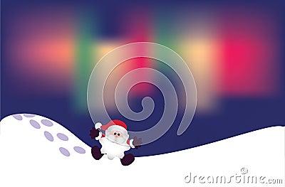 Santa on snow