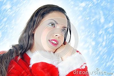 Santa and snow