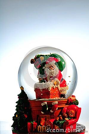 Free Santa Snow Globe Royalty Free Stock Photo - 12376515