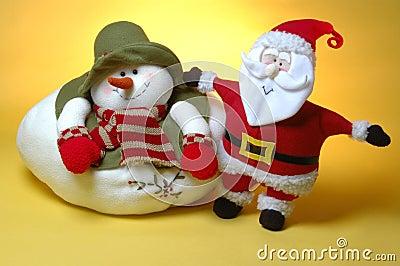 Santa and the snow man