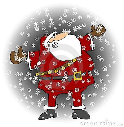 Santa In A Snowstorm
