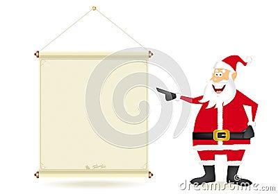 Santa with streamer