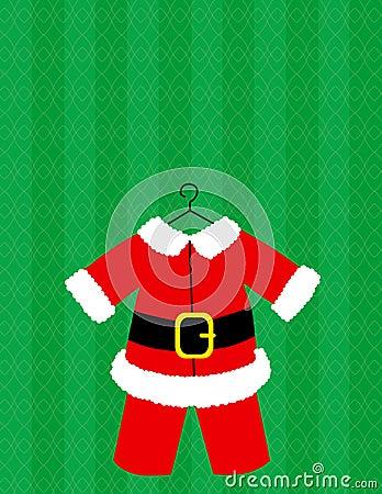 Santa Suit Vector