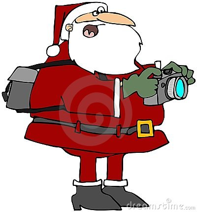 Santa Taking Photos