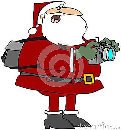 Santa Taking Photos