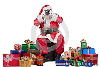Santa taking a snapshot