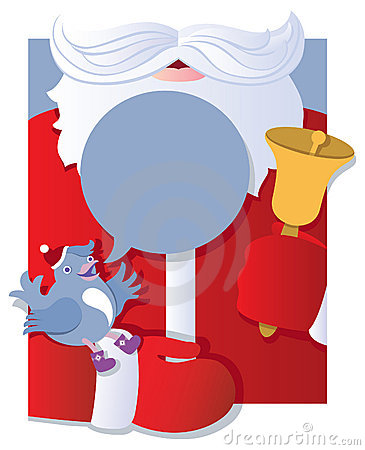 Santa with talking bird
