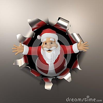 Santa tears the metal