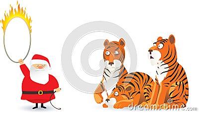 Santa and tigers