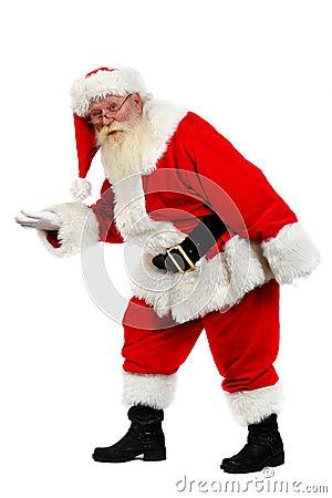 Santa tiptoe
