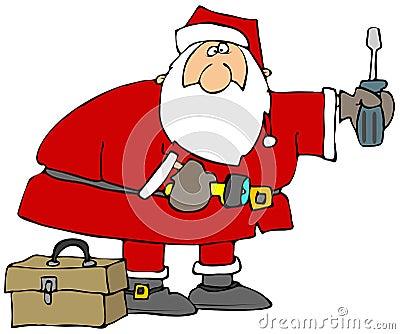 Santa With Tools