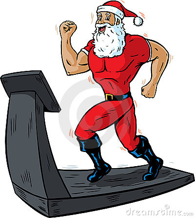 Santa on a treadmill
