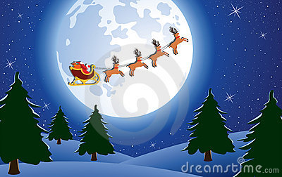 Santa And Trees Royalty Free Stock Photo - Image: 16970085