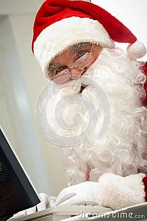 Santa typing
