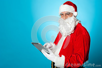 Santa using newly launched electronic tablet