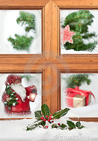 Santa At The Window Royalty Free Stock Image - Image: 21899736