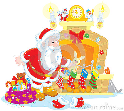 Free Santa With Gifts Royalty Free Stock Photo - 45265065
