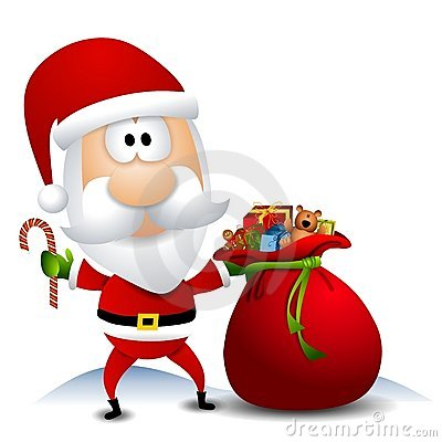 Free Santa With Sack Full Of Toys Stock Photography - 7086262