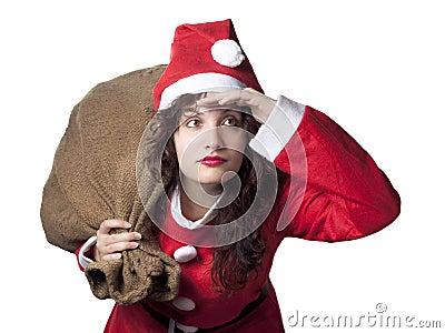 Santa Woman Searching