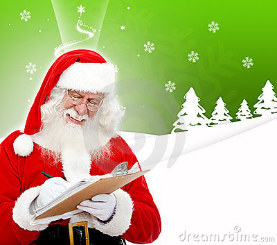 Santa writing a list