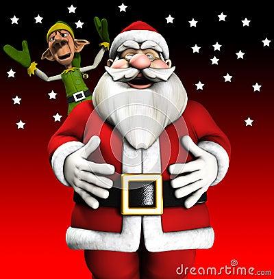 Santa y duende