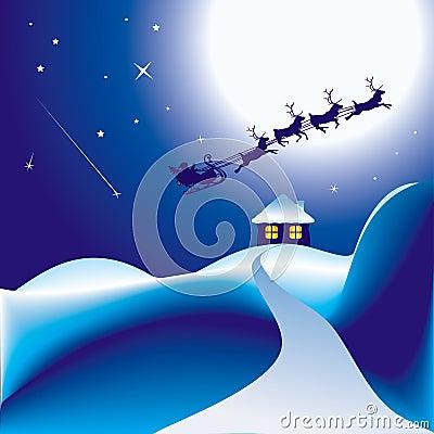 Santa y su trineo