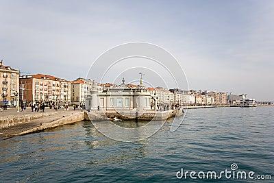 Santander,  walk at edge of the sea